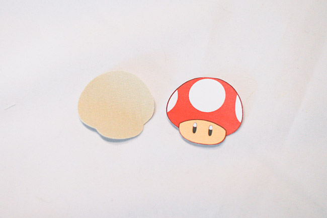 Cut out mushroom stem as base for patch