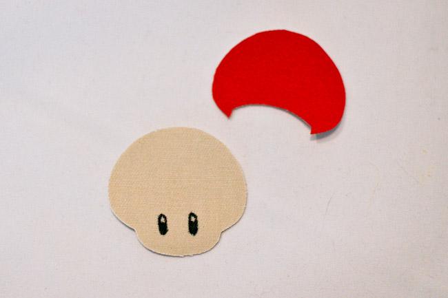Draw on mushroom eyes