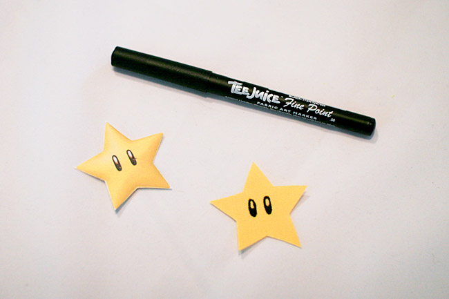 Draw on eyes with a fabric marker