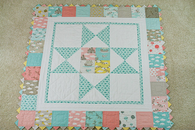 storybook baby quilt