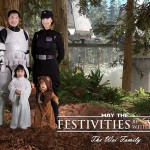 Star Wars Family Photo for Holiday Cards