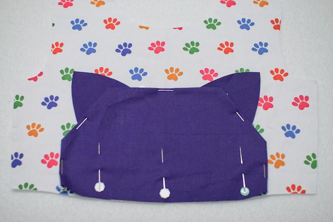 Cat Head Kangaroo Pocket Dress
