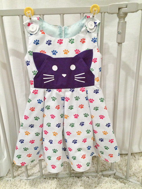 Cat Head Kangaroo Pocket Dress