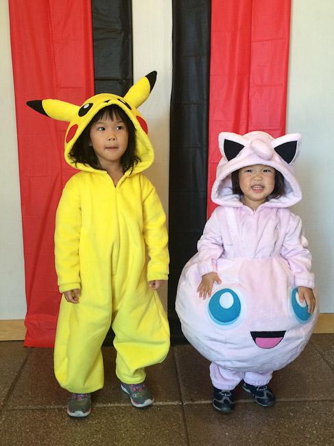 Jigglypuff and Pikachu kid costumes