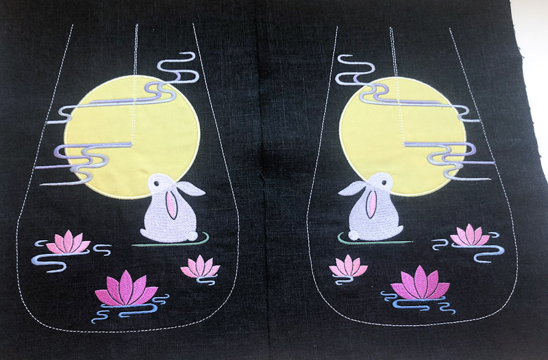 bunny and moon 18th century pockets